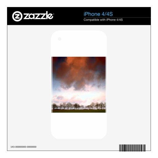 Sky Auburn Skins For iPhone 4