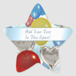 Sky Balloons Customizable Star-Shaped Stickers