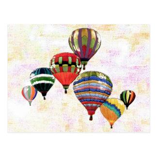 Sky Balloons ~ Postcard Modern