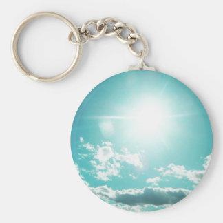 Sky Basic Round Button Keychain