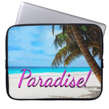 gypsypoetproducts Sky, beach, palm trees - Paradise! Laptop Sleeve