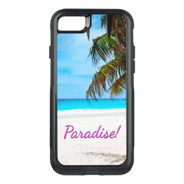 gypsypoetproducts Sky, beach, palm trees - Paradise! OtterBox Commuter iPhone 7 Case