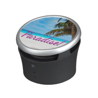 Sky, beach, palm trees - Paradise! Speaker