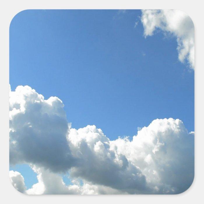 Sky Beautiful Lake Clouds Square Sticker