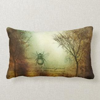 Sky Bees And Trees Lumbar Pillow