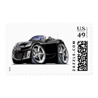 Sky Black Car Postage Stamp