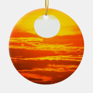 Sky Blazing Sun Ceramic Ornament