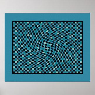 Sky Blue 1200 Pieces of pi Poster