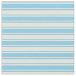 [ Thumbnail: Sky Blue and Beige Colored Lined/Striped Pattern Fabric ]