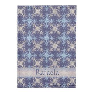 Sky Blue and Beige on Martinque Blue Damask Tyvek® Card Wallet
