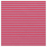 [ Thumbnail: Sky Blue and Crimson Lines Fabric ]