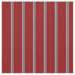 [ Thumbnail: Sky Blue and Dark Red Colored Pattern of Stripes Fabric ]