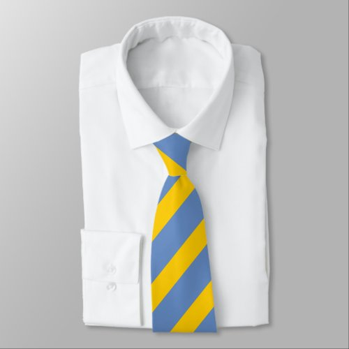 Sky Blue and Gold Vertically-Striped Tie