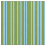 [ Thumbnail: Sky Blue and Green Lines Fabric ]
