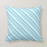 [ Thumbnail: Sky Blue and Light Cyan Colored Lines Throw Pillow ]