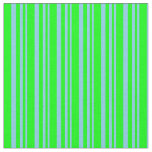 [ Thumbnail: Sky Blue and Lime Colored Stripes Pattern Fabric ]