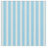 [ Thumbnail: Sky Blue and Mint Cream Colored Stripes Fabric ]