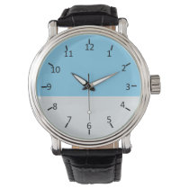 Sky Blue and Pale Silver Wrist Watch