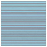 [ Thumbnail: Sky Blue and Slate Gray Colored Pattern Fabric ]