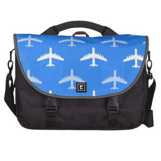 Sky Blue and White Airplane; Plane Bags For Laptop
