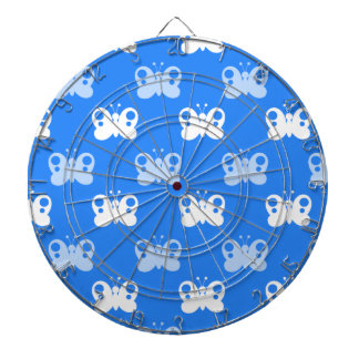Sky Blue and White Butterflies; Butterfly Dartboards