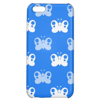 Sky Blue and White Butterflies; Butterfly iPhone 5C Cases