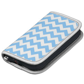 Sky Blue and White Chevron ZigZag Pattern Planners
