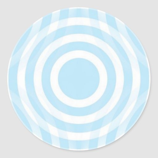sky_blue_and_white_interlocking_concentric_circles round stickers