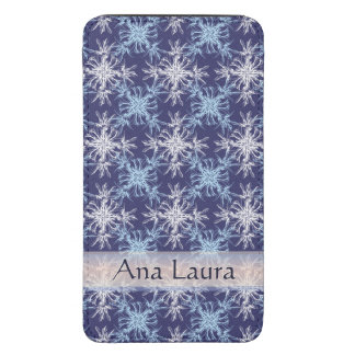 Sky Blue and White on on Martinqe Blue Damask Galaxy S5 Pouch