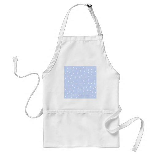 Sky blue and white rain drop pattern. adult apron