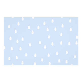 "Sky blue and white rain drop pattern. 5.5"" x 8.5"" flyer"