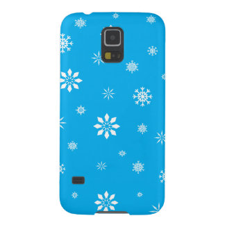 Sky blue and white snowflakes cases for galaxy s5