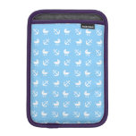 Sky blue baby boy nautical pattern sleeve for iPad mini