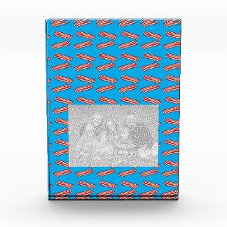 Sky blue bacon pattern acrylic award