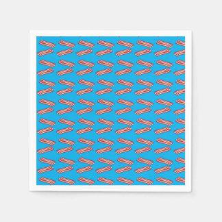 Sky blue bacon pattern disposable napkin