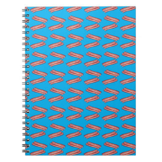 Sky blue bacon pattern spiral notebook