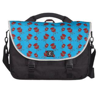 sky blue barbeque pattern laptop bag