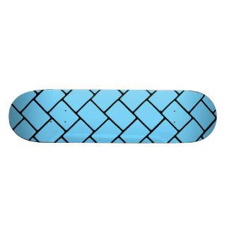 Sky Blue Basket Weave 2 Skateboard Deck