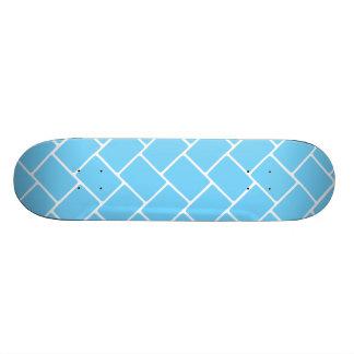 Sky Blue Basket Weave Skateboard