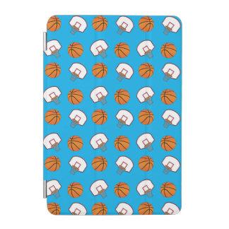 Sky blue basketballs and nets pattern iPad mini cover