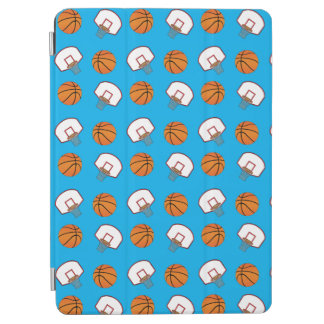 Sky blue basketballs and nets pattern iPad air cover