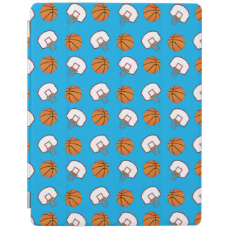 Sky blue basketballs and nets pattern iPad cover