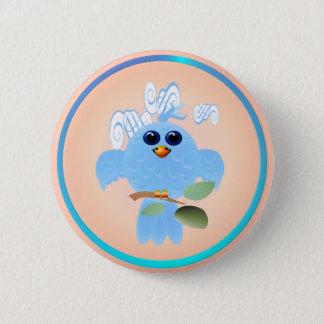 Sky Blue Bird Buttons