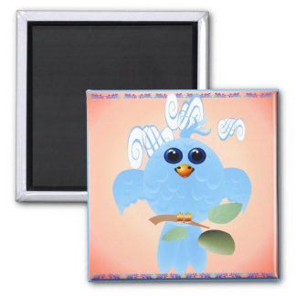 Sky Blue Bird Magnet