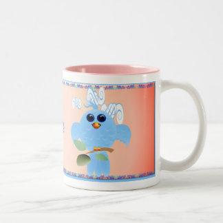 Sky Blue Bird Mugs