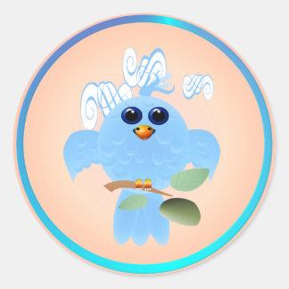 Sky Blue Bird Stickers