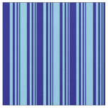 [ Thumbnail: Sky Blue & Blue Colored Lined/Striped Pattern Fabric ]