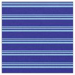 [ Thumbnail: Sky Blue & Blue Colored Stripes Pattern Fabric ]