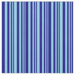 [ Thumbnail: Sky Blue & Blue Lines/Stripes Pattern Fabric ]