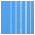 [ Thumbnail: Sky Blue & Blue Striped/Lined Pattern Fabric ]